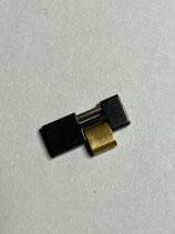 Armbandglied / Ersatzglied für Cartier Formula Ferrari - schwarz / Gold - Breite 13 mm / guter Zustand (leicht gebraucht)