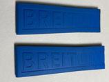 Breitling Twin Pro Kautschukarmband blau für Faltschließe Ref.: 235s - z.b. für Exospace - Bandanstoss 24 mm verjüngt sich auf 20 mm - (neuwertig - leicht gebraucht von Vorführuhr - etwas gekürzt)