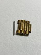 NSA (Novavit) Vintage Ersatzglied vergoldet - gilded - link - 18 mm breit (guter gebrauchter Zustand - good used condition)