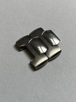 (FS - Friedrich Stahl) Vintage Edelstahl Ersatzglied - link - z.B. für Sinn 103 & andere - 16 mm breit satiniert/poliert (leicht gebraucht guter Zustand - lighly used good condition)