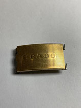 Rado Vintage NSA (Novavit) Schließe - clasp - vergoldet - gilded - 18 mm breit - Clasp - (guter gebrauchter Zustand - vergoldung altersbedingt mit fehlern - good condition - gilded with faults)
