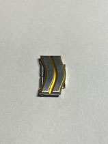 Ebel Sport Classic Wave - doppeltes Armband Ersatzglied Stahl/Gold - Breite 12mm - gestiftet - NOS (New old Stock)