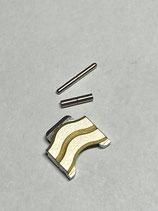 Ebel Sport Classic Wave - Ref: 1157111/628.02 - doppeltes Armband Ersatzglied Stahl/Gold - Breite 10mm - gestiftet - NOS (New old Stock)
