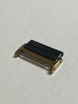 Rado Ersatzglied für Rado Diastar (Gold Keramik schwarz) - Breite 20 mm (NOS New old Stock)