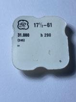 Valjoux 61,54 - Teil 245 - Minutenrohr / Viertelrohr - H=290 - NOS (New old Stock) OVP