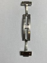 Cartier Santos Ronde Automatik - komplette Faltschließe mit Endgliedern - Gliedbreite ca. 15,7 mm - gebraucht mit Gebrauchspuren - technisch einwandfrei - used with wearing sings