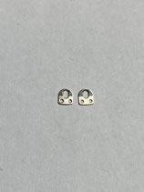 Eta Vintage Briden - Eta Werkbefestigung Laschen Briden Bride für Vintage Uhren (Stärke 0,23 mm - Breite 2,7 mm - Länge 3 mm) - NOS (New old Stock)