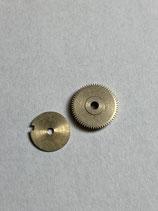 Urofa 542 - Urofa Teil 108 & 109 - Federhaus Trommel & Deckel ohne Feder und Kern - leicht gebraucht