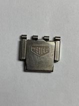 Heuer Vintage NSA (Novavit) Schließe - Clasp - 18 mm breit - Pat.: 434845 - (Federsteg & Feder fehlt!) - (ansonsten guter gebrauchter Zustand - good used condition)