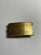 Rado Vintage NSA (Novavit) Schließe - clasp - vergoldet - gilded - 18 mm breit - Clasp - (guter gebrauchter Zustand - vergoldung altersbedingt mit fehlern - good condition - gilded with faults)