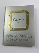 Cartier Vintage Booklet für Santos Uhren - siebziger, achtziger Jahre - NOS (New old Stock) mit leichten Lagerspuren
