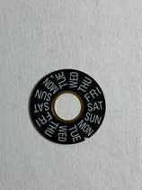Lemania 5100 (Omega 1045) - Teil 2561 - Tagescheibe Englisch Schwarz - leicht gebraucht (schöner Zustand)