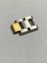 Baume & Mercier Armband Doppel - Ersatzglied für Damenuhr - Stahl / Gold - Breite ca. 11 mm -  neuwertig