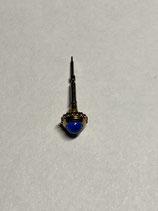 VLC Must de Cartier Ref.: VA080015GM - Krone gold mit blauem Stein & Aufzugwelle - Crown - Neuwertig (mit leichten Gebrauchsspuren)