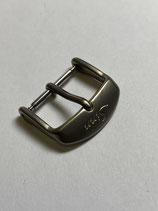 Sinn Spezialuhren Edelstahl Dornschließe titan glasperlgestrahlt - 18mm Anstoss - NOS (New old Stock)