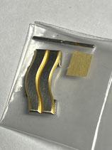 Ebel Sport Classic Wave - Ref: 187909/625.02 - doppeltes Armband Ersatzglied Stahl/Gold - Breite 15mm - gestiftet - NOS (New old Stock)