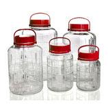 Glaskanister 1 bis 12 Liter