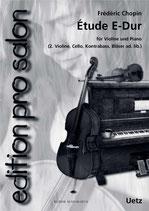 Frédéric Chopin: Étude E-Dur