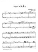Wolfgang Amadeus Mozart: Sonate in B-Dur