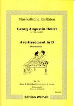 Georg Augustin Holler: Avertissement in D