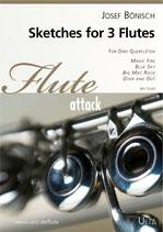 Josef Bönisch: Sketches for 3 Flutes