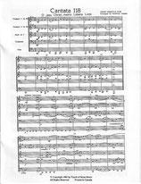 Johann Sebastian Bach: Cantata 118