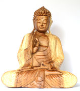 "Buddha aus Holz "" one hand up"""