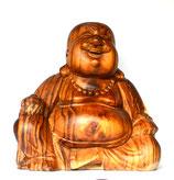 "Buddha aus Holz, ""Happy Buddha"""