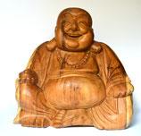 "Buddha aus Holz ""Happy Buddha"""