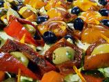 Paprika Knoblauch Oliven Spieß