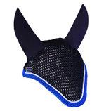 Bonnet de cheval Diamant Rider Marine - Galon bleu élec - Cord blanch Harcour