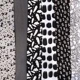 black and white fabrics