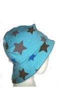 Sommerhut Jersey  Sterne blau J35