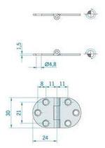 CERNIERA INOX mm.47x30 - 2742945
