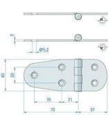 CERNIERA INOX mm.105x38 CAPOV -2742914
