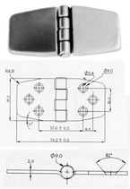 CERNIERA INOX mm.37x76 CO - 2742756