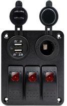 PANNELLO 3 INTERRUTTORI+USB - 4841803