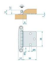 CERNIERA INOX mm.46x38 - 2742965