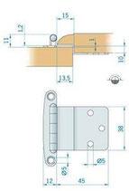CERNIERA INOX mm.57x44 - 2742967