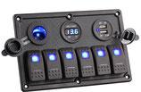 PANNELLO 6 INTERRUTTORI+USB+VOLT - 4841833