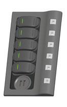PANNELLO ELETTRICO 5 INTERRUTTORI doppia USB - 32.257.05