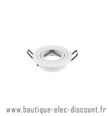 Support Spot Orientable -GU10 - Rond - Blanc