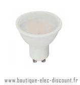 Ampoule LED GU10 - 7W=45W - 4000K - Façade plastique