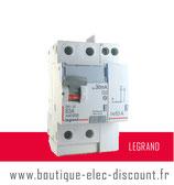 Int.dif. 63A 30mA type A Réf 411639 Legrand