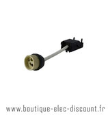 Douille céramique GU10 automatique 230V (câble+connecteur)