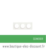 Plaque Blanc 3 postes H ou V réf S520706