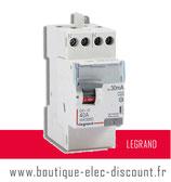 Int.dif. 40A 30mA A Réf 411617 Legrand
