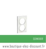Plaque Blanc 2 postes Verticaux réf S520714