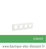 Plaque Blanc 4 postes H ou V réf S520708
