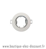 Support Spot Fixe - GU10 - Rond - Blanc